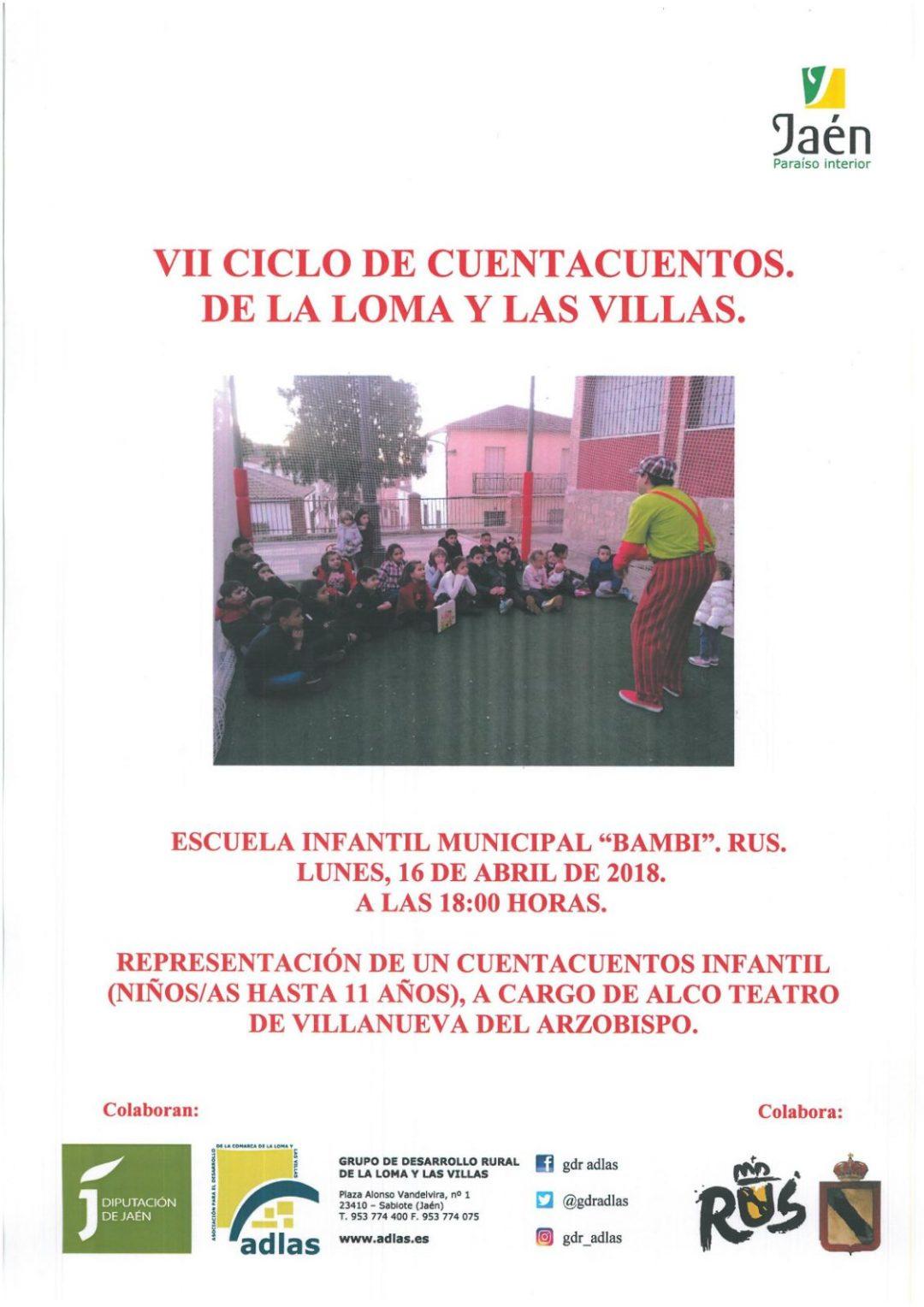 VII Ciclo de Cuentacuentos de La Loma y Las Villas