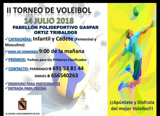 II Torneo de Voleibol