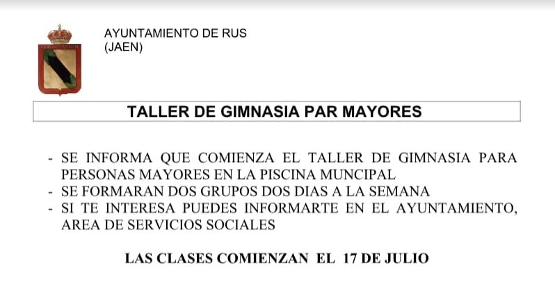 Taller de Gimnasia para Mayores en la Piscina Municipal