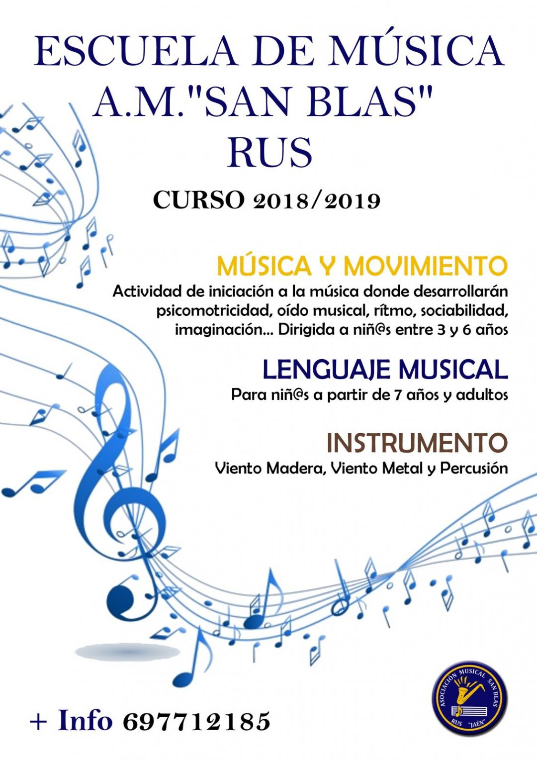 Escuela de Música AM San Blas – Curso 2018-2019